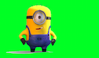 minion green screen button
