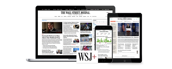 The Wall Street Journal - access it on your desktop, tablet or mobile device
