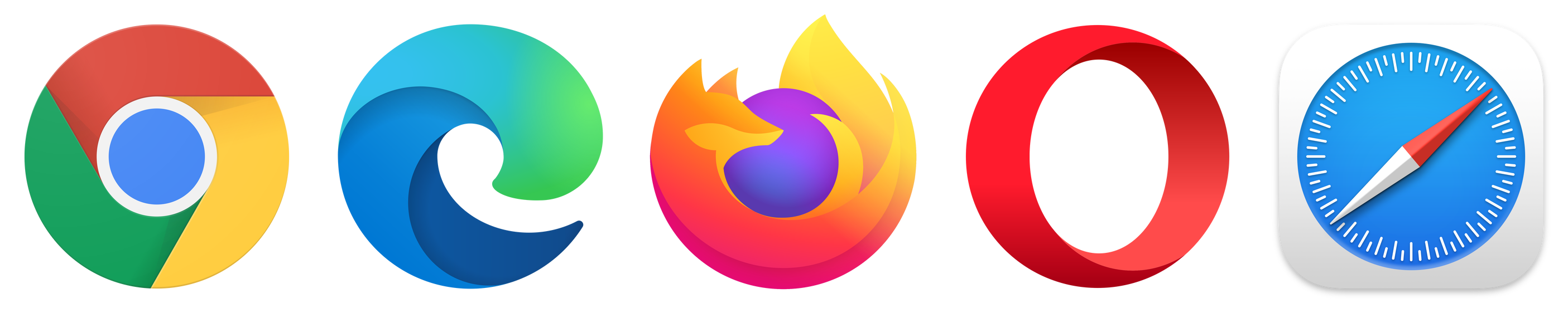 image of differing browser icons