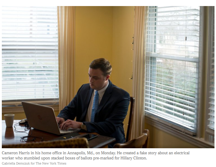 Photo of Cameron Harris in his office in Annapolis, Maryland, USA.