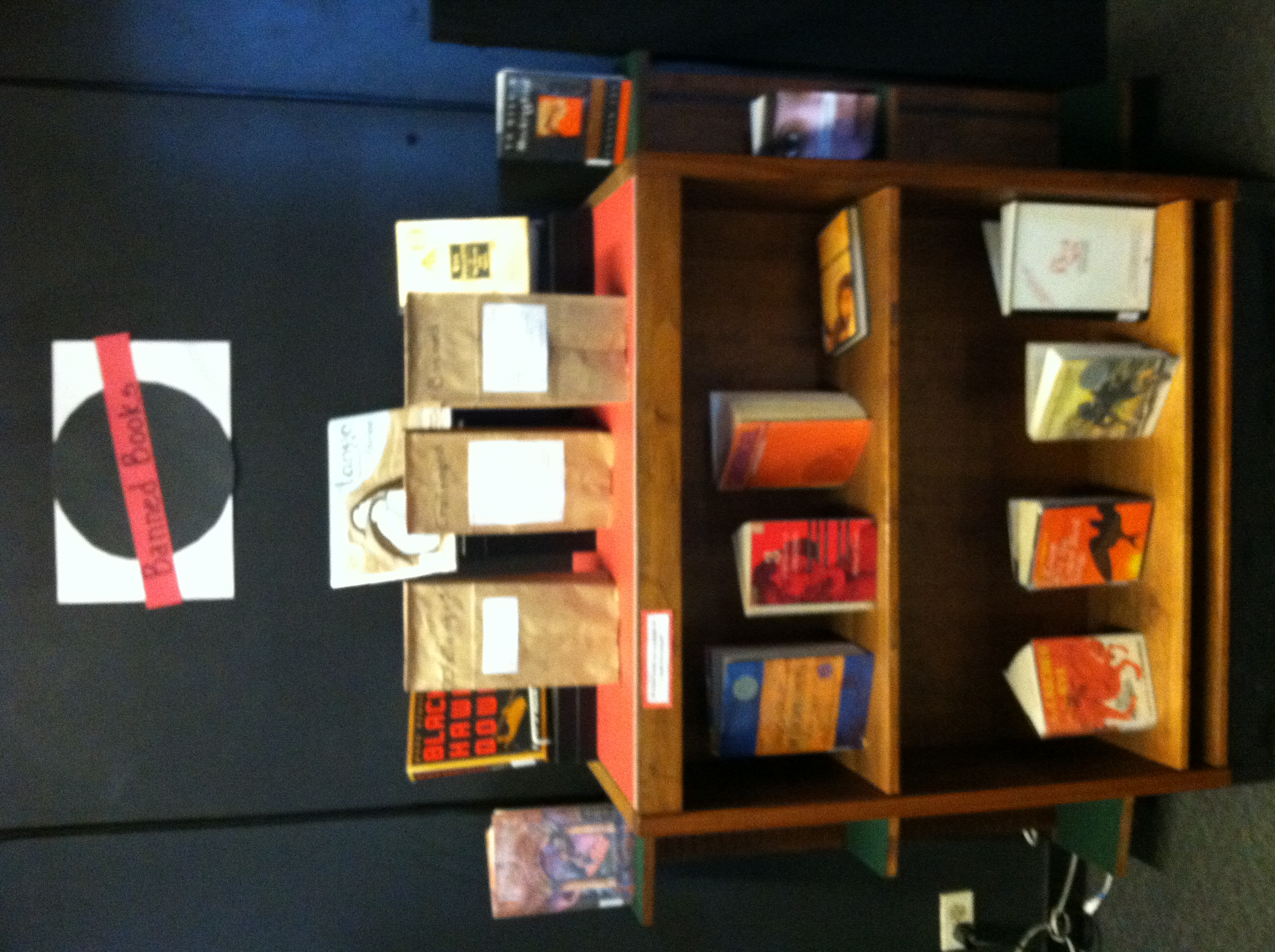 Library display for Banned Books Week 2012