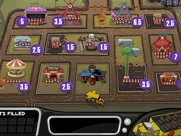 Monster school bus game