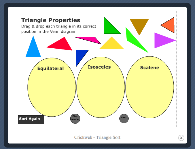 Triangle sorting game image