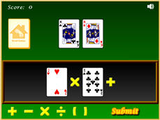 Screen shot of make 24 math game