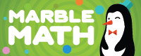 Marble Math addition with manipulatives