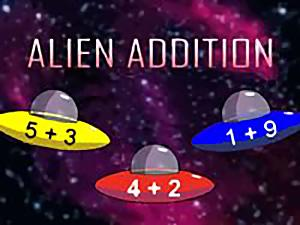 Alien Addition math game