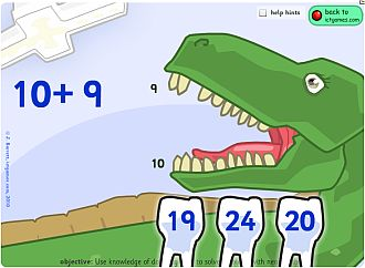 dinosaur dentist math game
