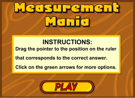 Measurement Mania math game