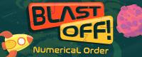 Blast Off! numerical order math game