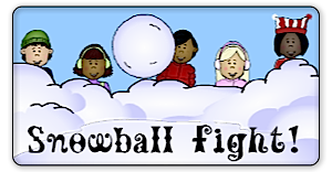 Snow Ball FIght math game image
