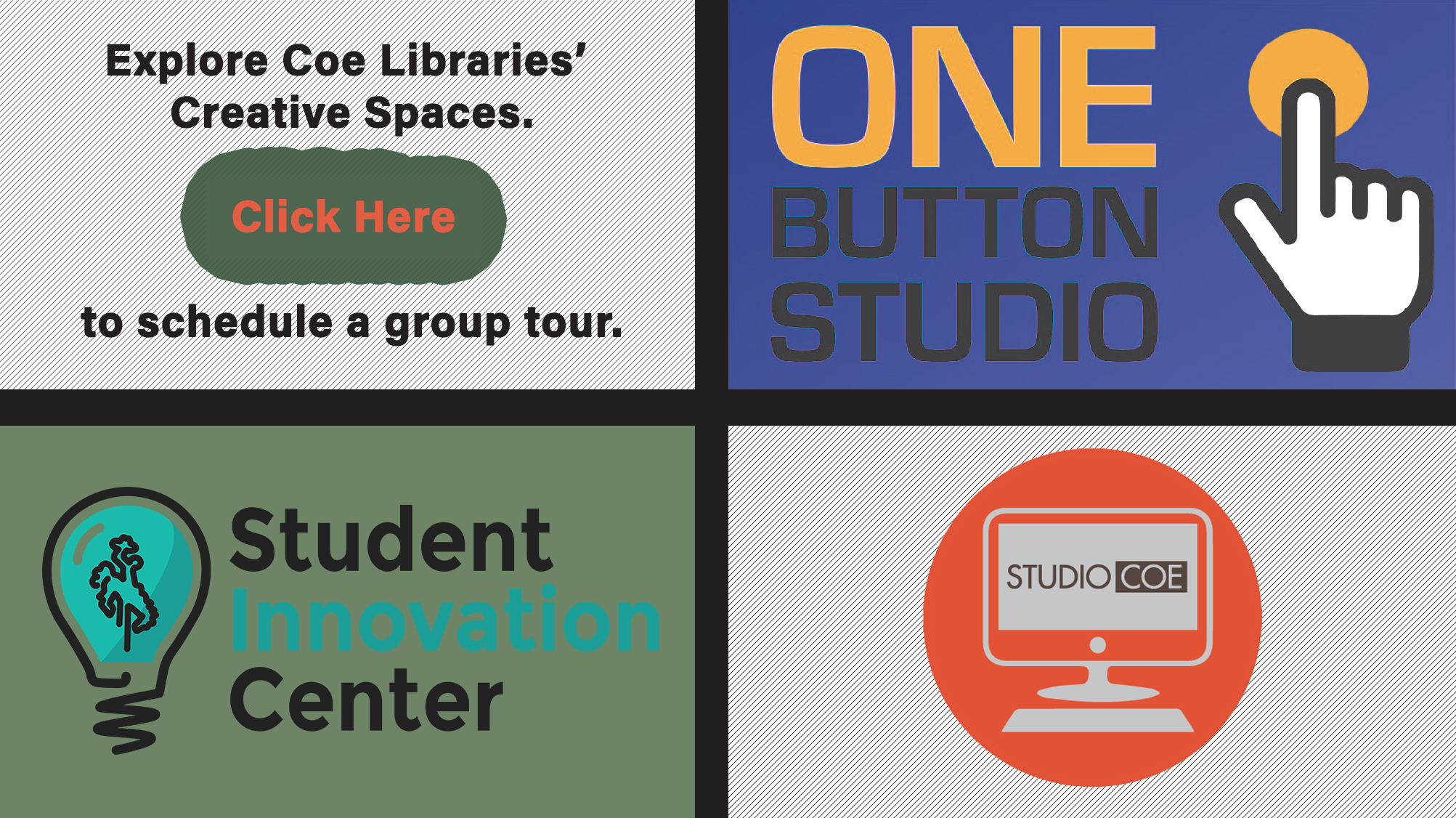 Schedule a tour for Coe's Creative Spaces.