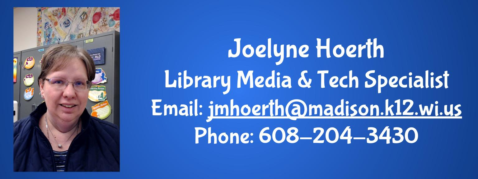 Email and Phone for Ms. Hoerth