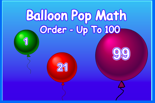 Balloon Pop Math 1-100