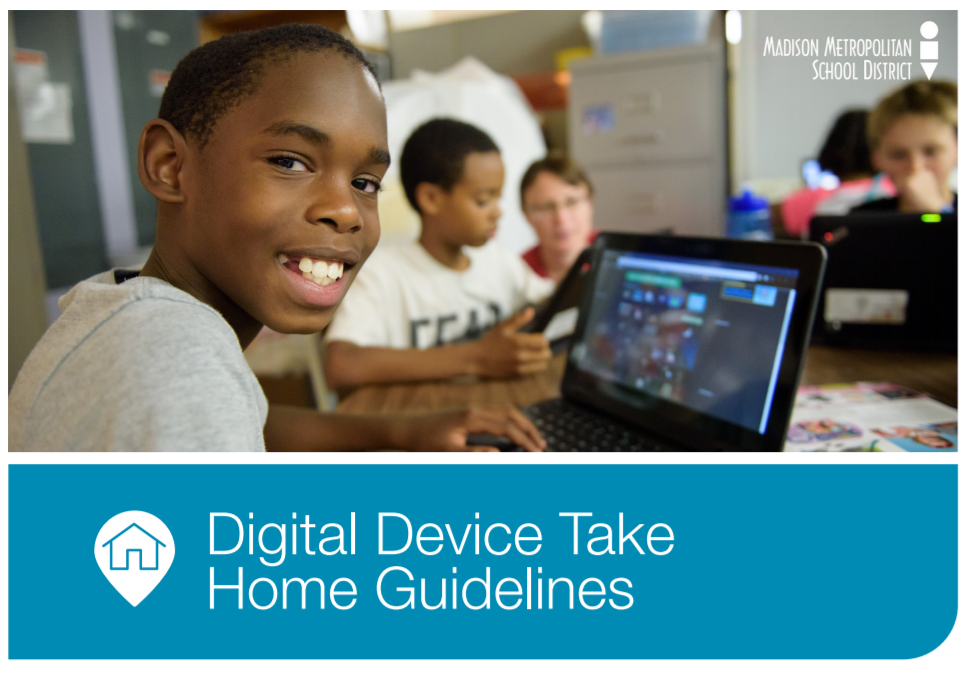 Image from front page of device guidelines of students using chromebooks