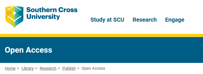 Southern Cross University, Library: Open Access