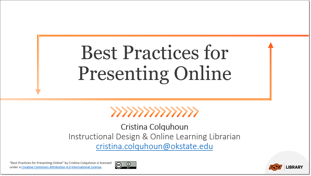 PowerPoint: Best Practices for Presenting Online