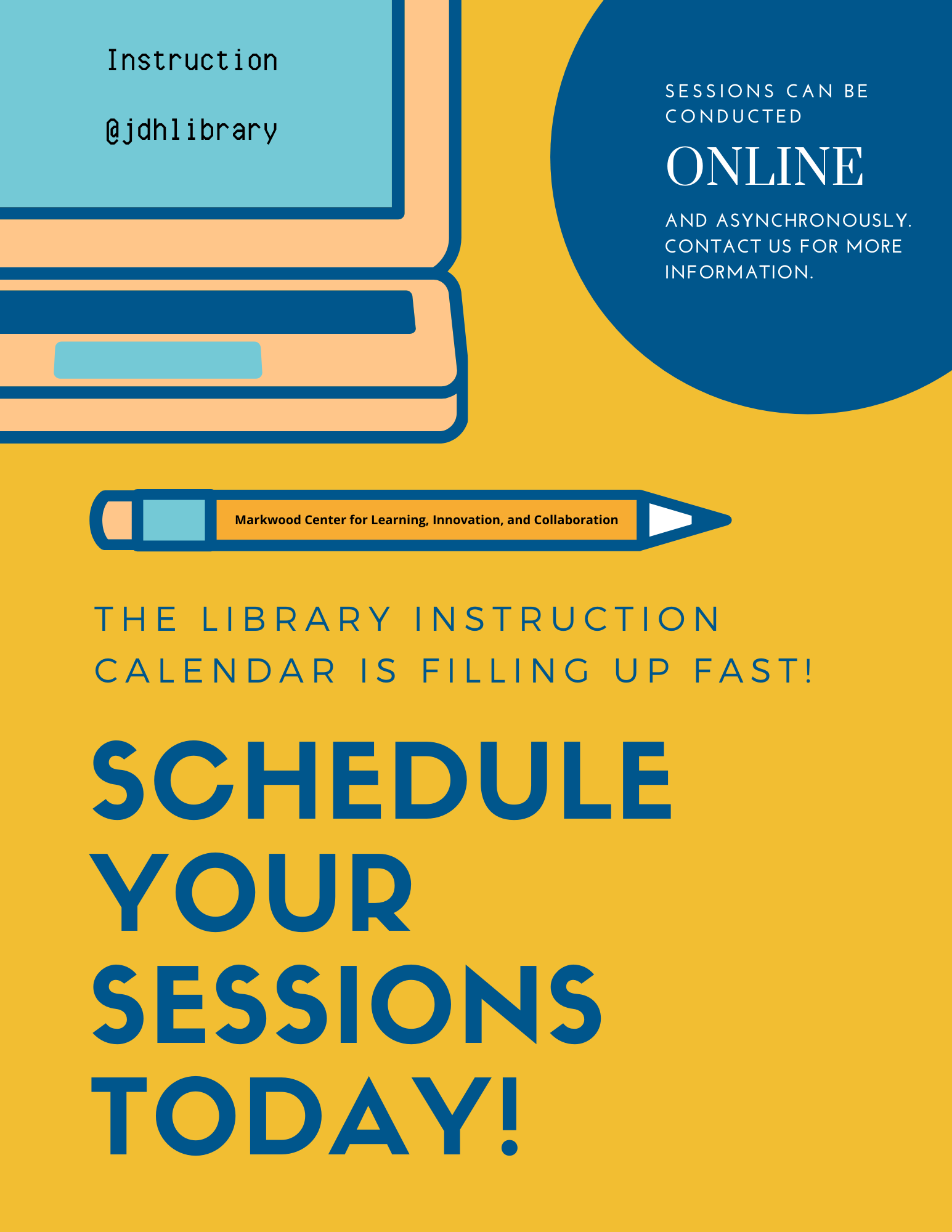 Instructors can now schedule library instruction