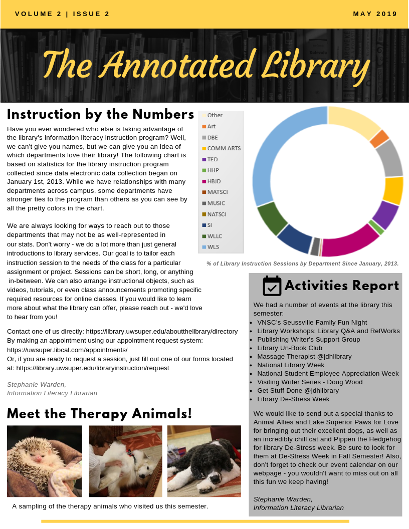 MAY 2019 The Annotated Library