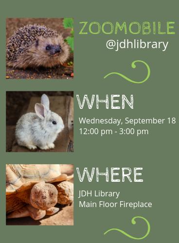Zoomobile @jdhlibrary September 18, 12:00 pm - 3:00 pm