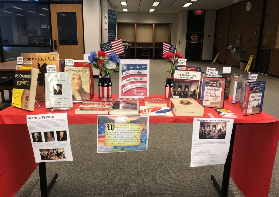 Constitution Day table