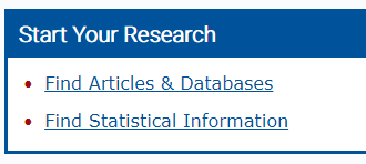 "Click on the ""Find Articles and Databases"" link"