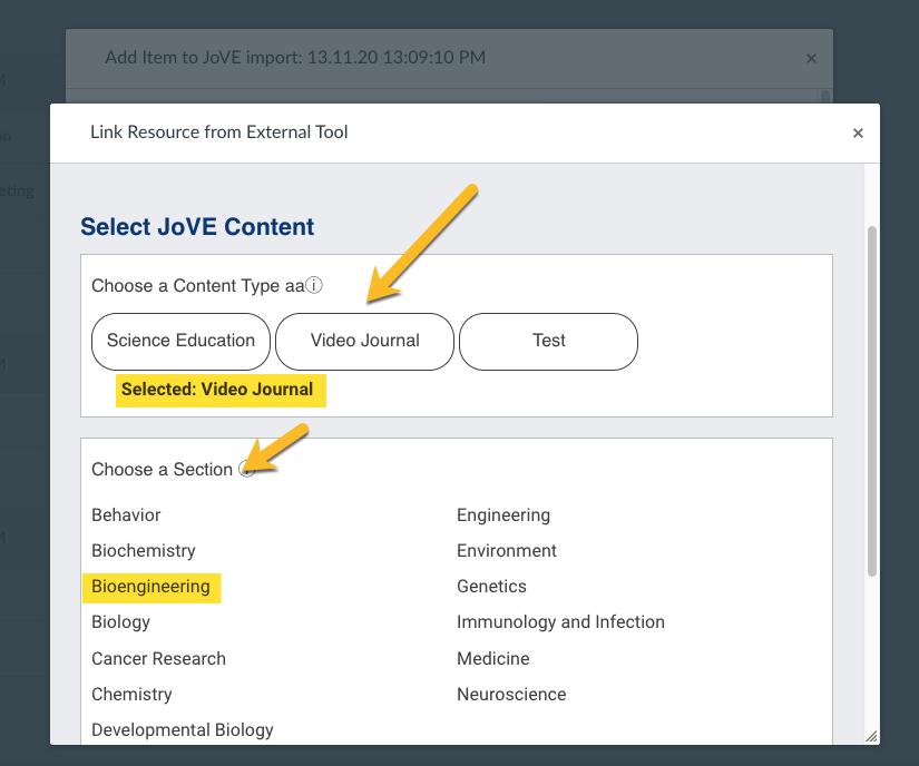 choose section (bioengineering)