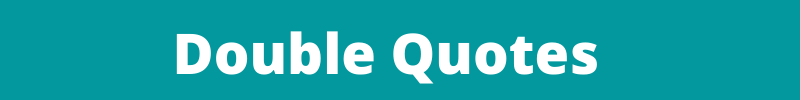 double quotes banner