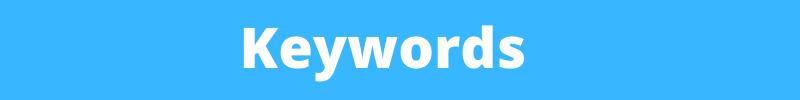 keywords banner
