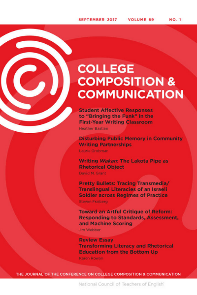 cover page of journal College Composition & Communication