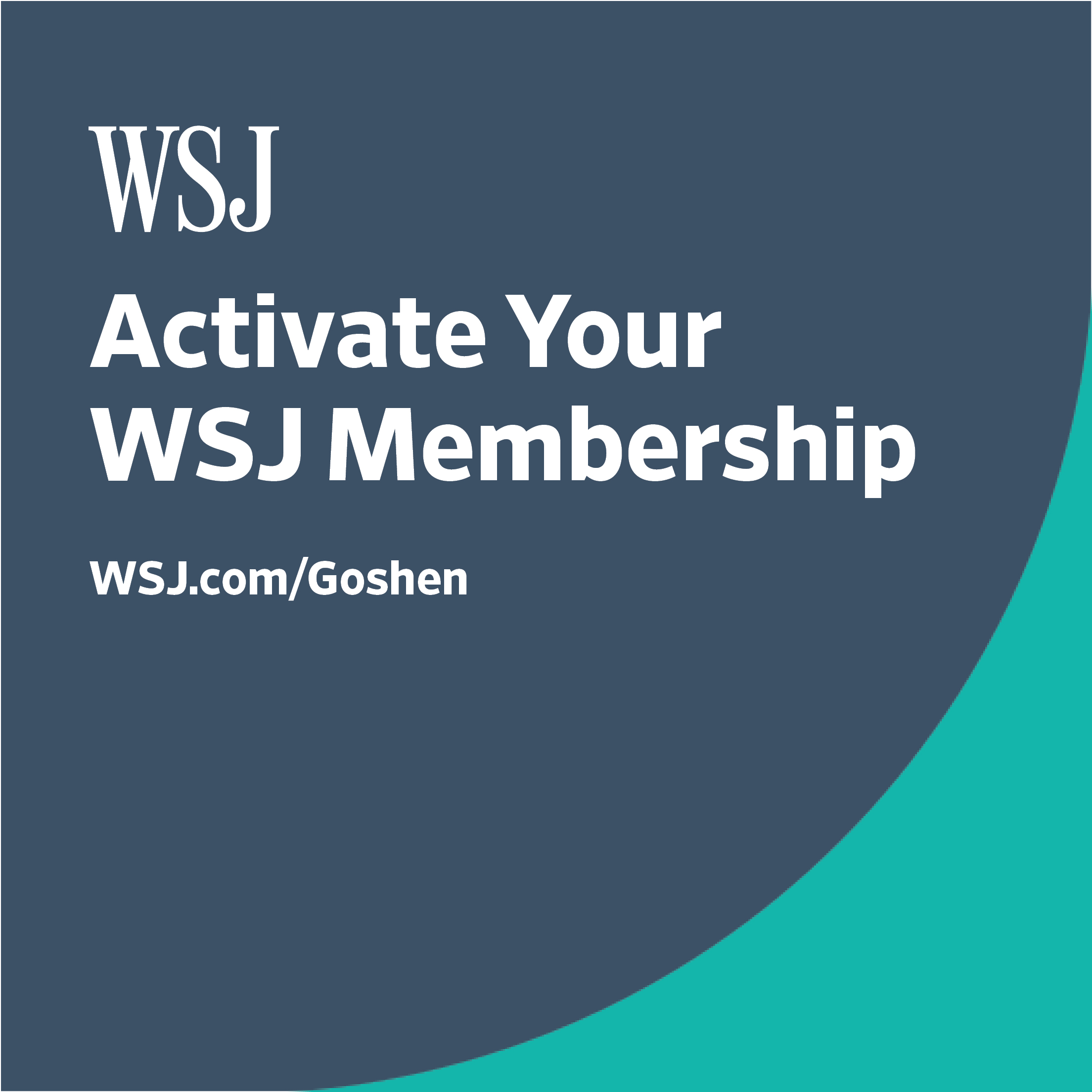 WSJ Activate Your Membership