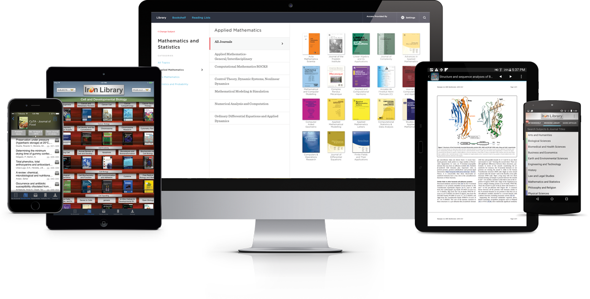 BrowZine Desktop and App Interface