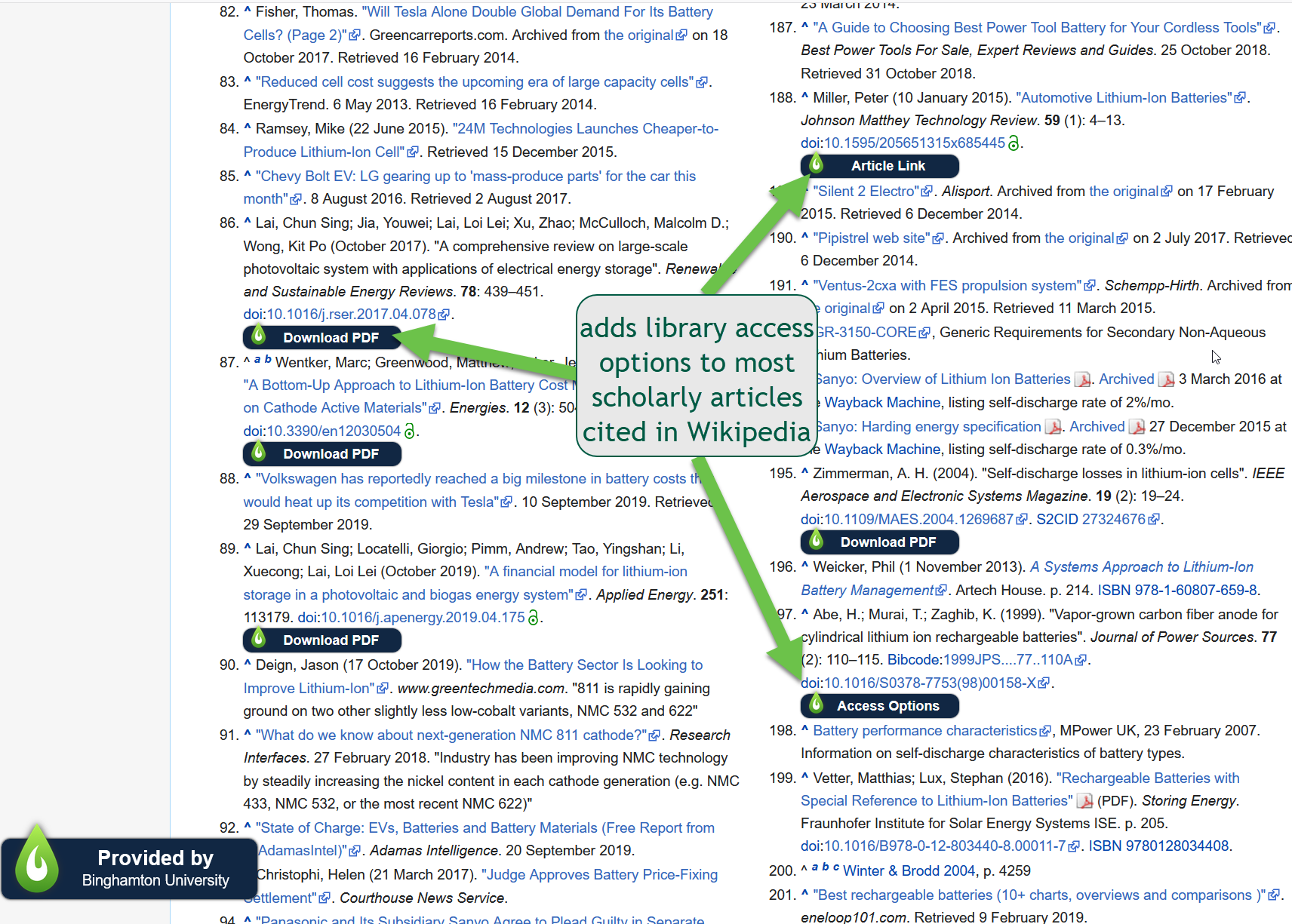 LibKey Nomad in Wikipedia Reference List