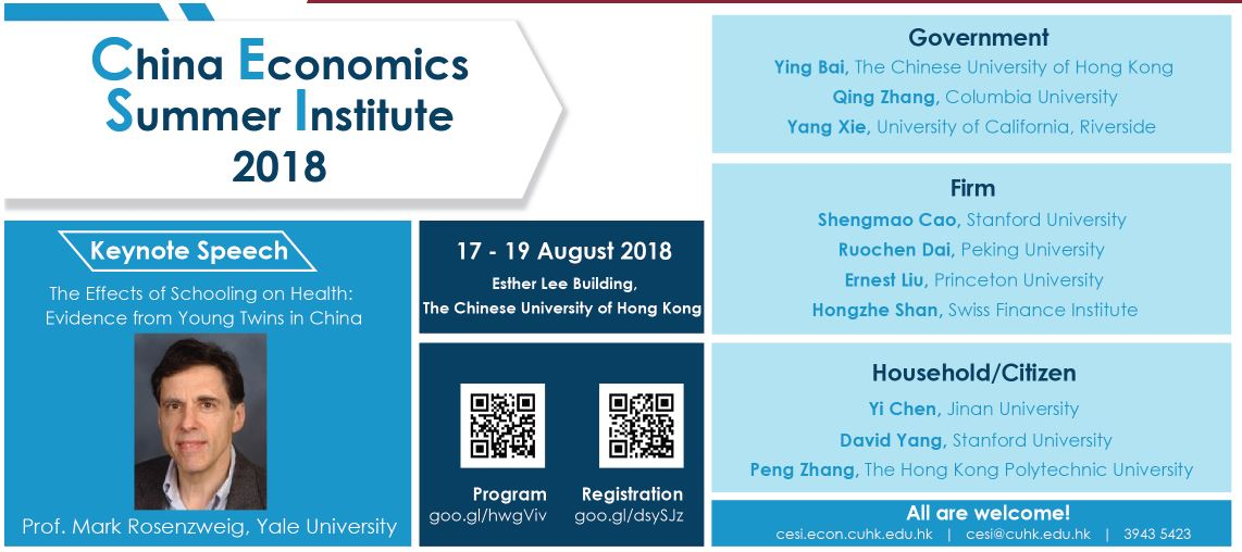 China Economics Summer Institute 2018