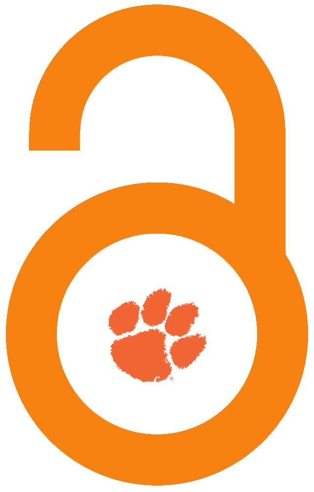 Open lock with Clemson tiger paw logo