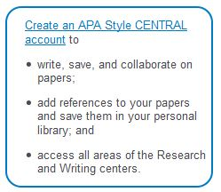 APA Style CENTRAL Screenshot