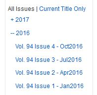 Date, volume, issue