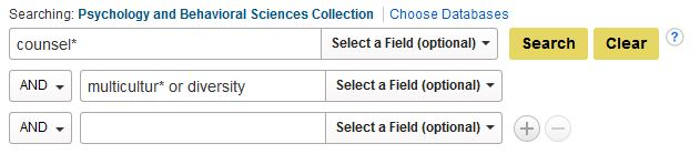 Example Search for Psychology and Behavioral Sciences Collection