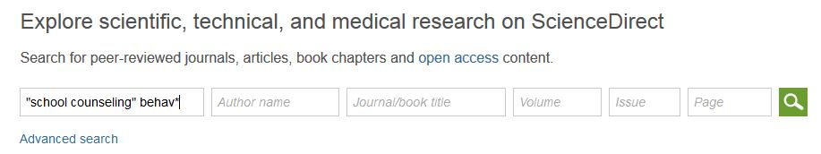 Example Search for ScienceDirect