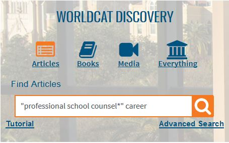 Example Search for WorldCat Discovery