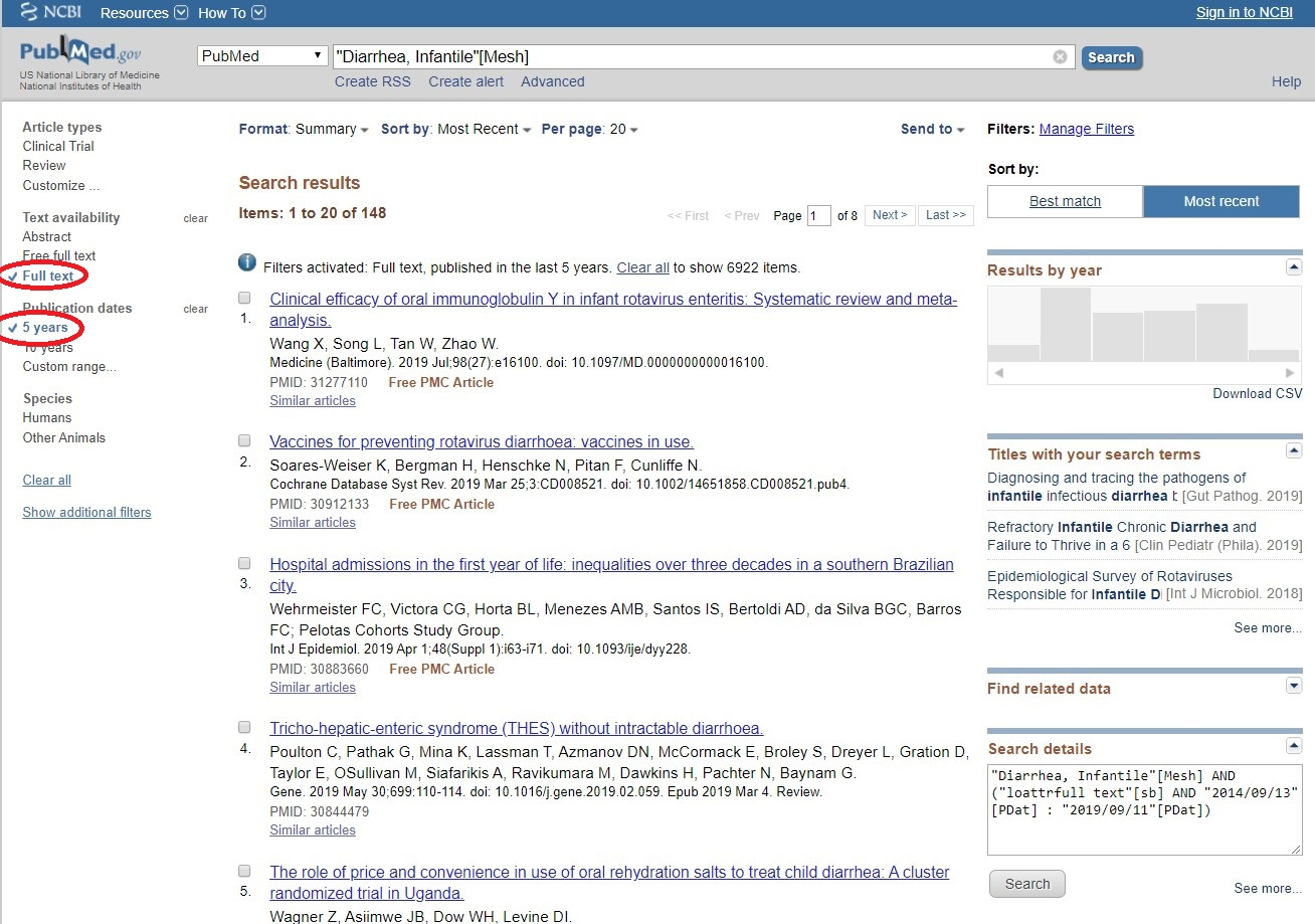 Refining PubMed Central Search Results