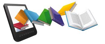 Image: Books coming out of a tablet