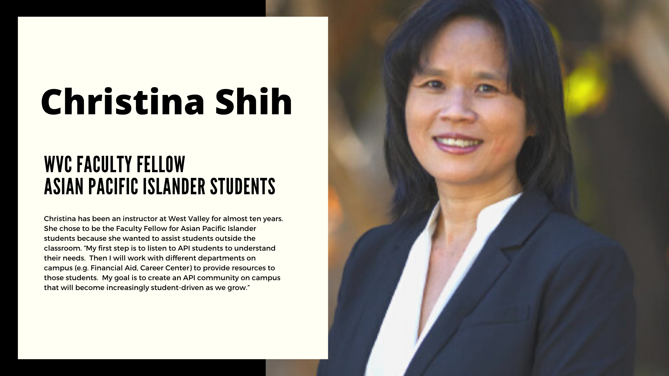 Faculty Fellow Asian and Asian Pacific Islander Profile