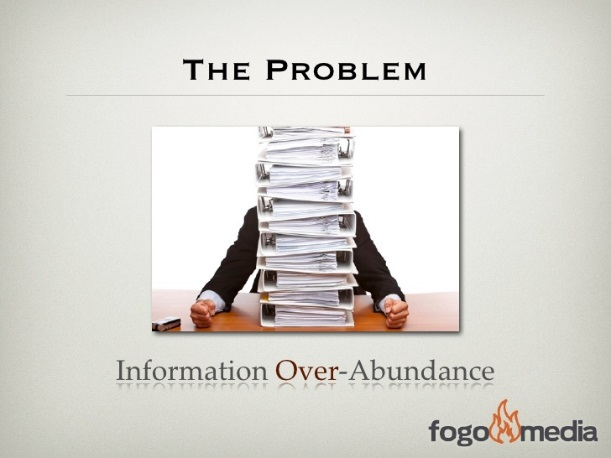 The Problem Information over-abundance