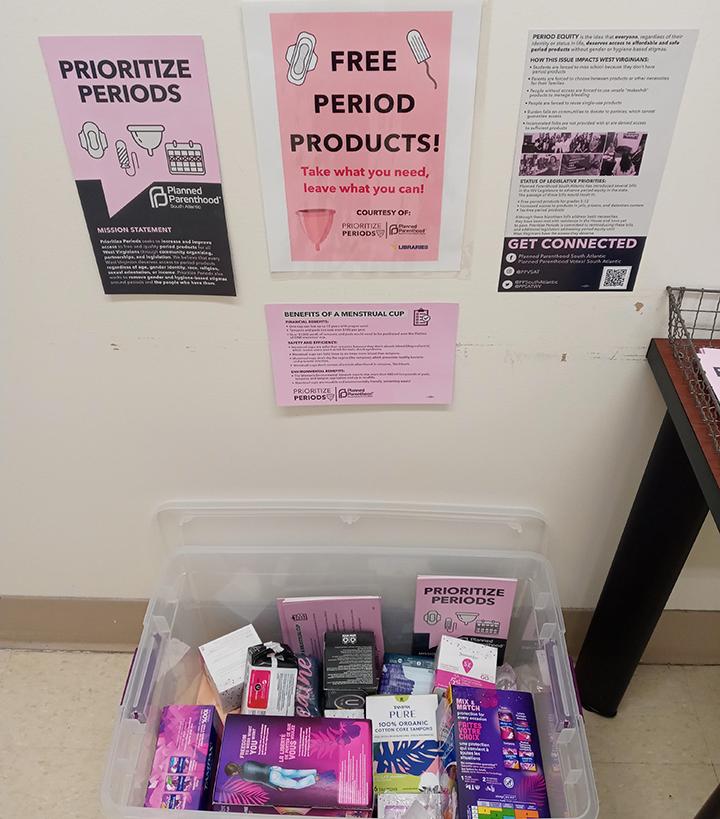 menstrual product bin