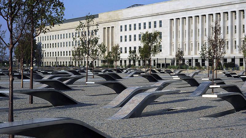 Pentagon Memorial - photo by U.S. Navy Mass Communication Specialist 1st Class Brien Aho