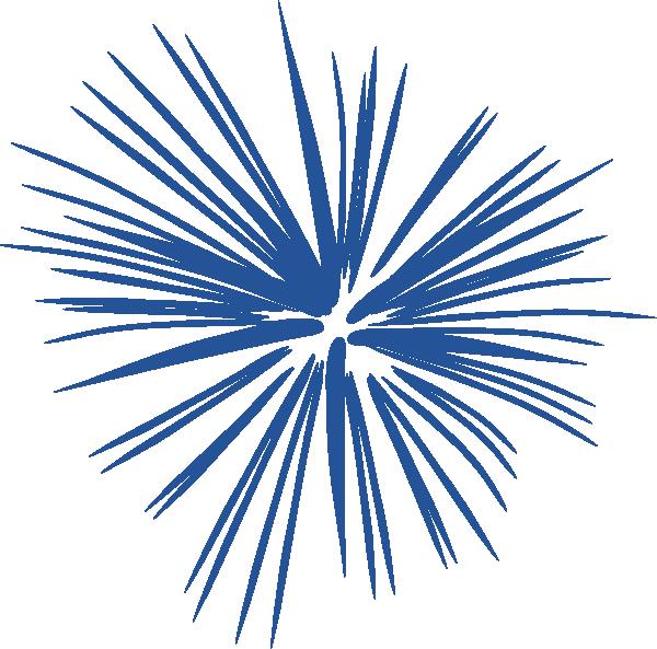 Blue firework graphic