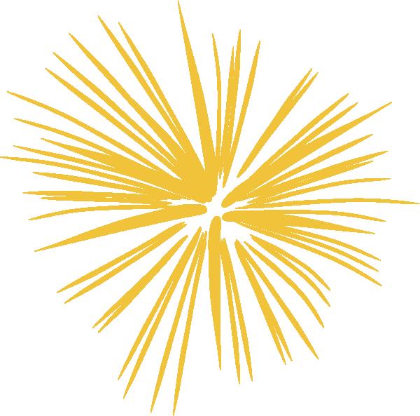 Gold firework graphic