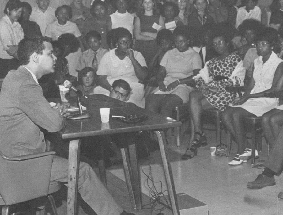 Julian Bond speaking at ECU