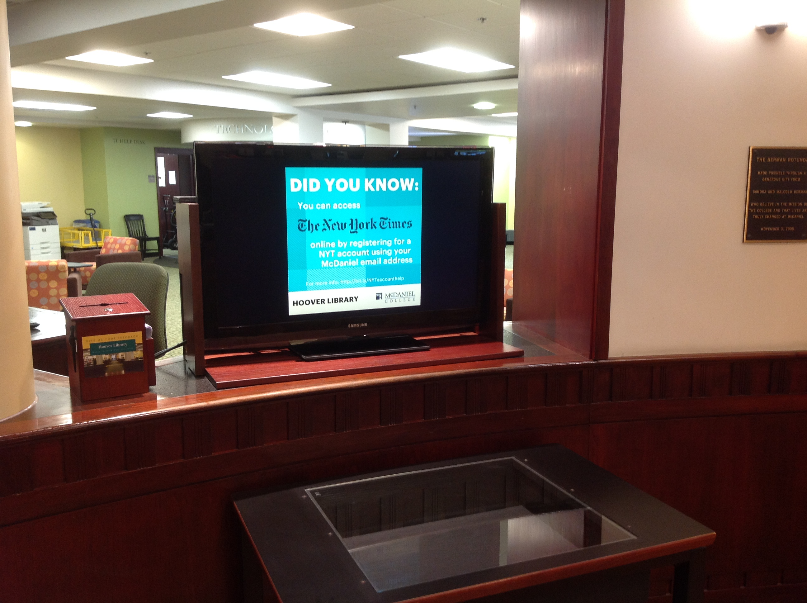 Library digital sign