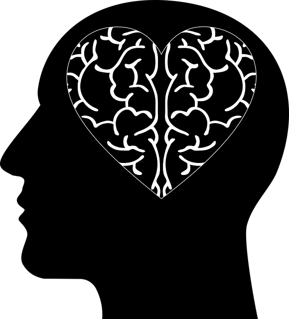 Illustration of a heart-shaped brain